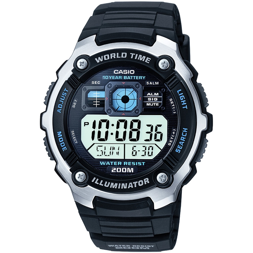 Hodinky Casio World Timer AE-2000W-1AVEF 13e0d5896be