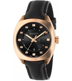 Hodinky Gucci GG2570 Black Dial Rose Gold-Tone Ladies Watch YA142407