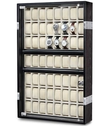 Hodinky Rothenschild Uhrenvitrine LED Exclusive-Line 56 RS-5051-BK
