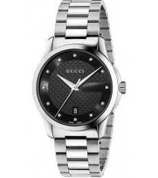 Hodinky Gucci G-Timeless Black Dial Diamond Unisex YA126456