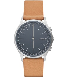 Hodinky Skagen Hagen Hybrid Smartwatch Brown Leather SKT1200
