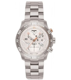 Hodinky Traser H3 Classic Ladytime Chronograph Silver Stahl 100279