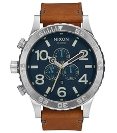 Hodinky Nixon Chrono Leather Navy A124-2186