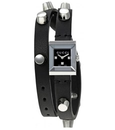 Hodinky Gucci G-Frame Black Dial Black Leather YA128520