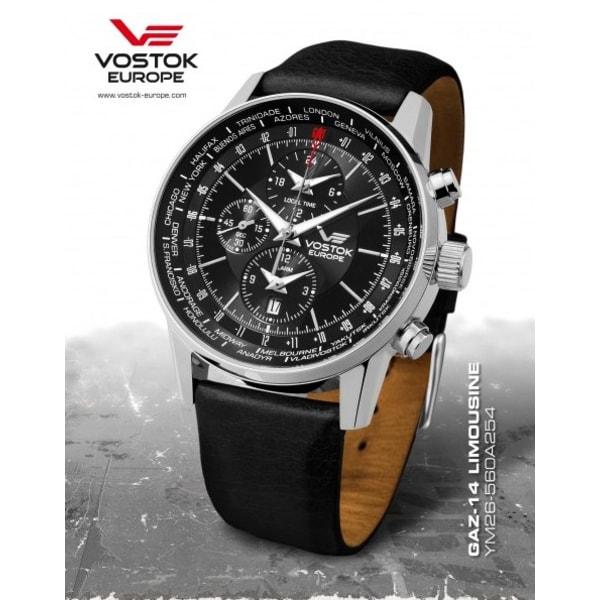 8910dc1a720 Vostok Europe Gaz-14 Limouzine World Timer Alarm - YM26-560A254 ...